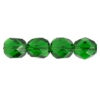 Fire Polished 7mm Transparent Green